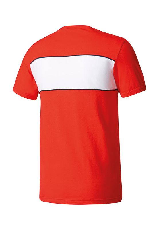 Adidas T-Shirt Men BLOCK TEE BK7783 Rot – Bild 1