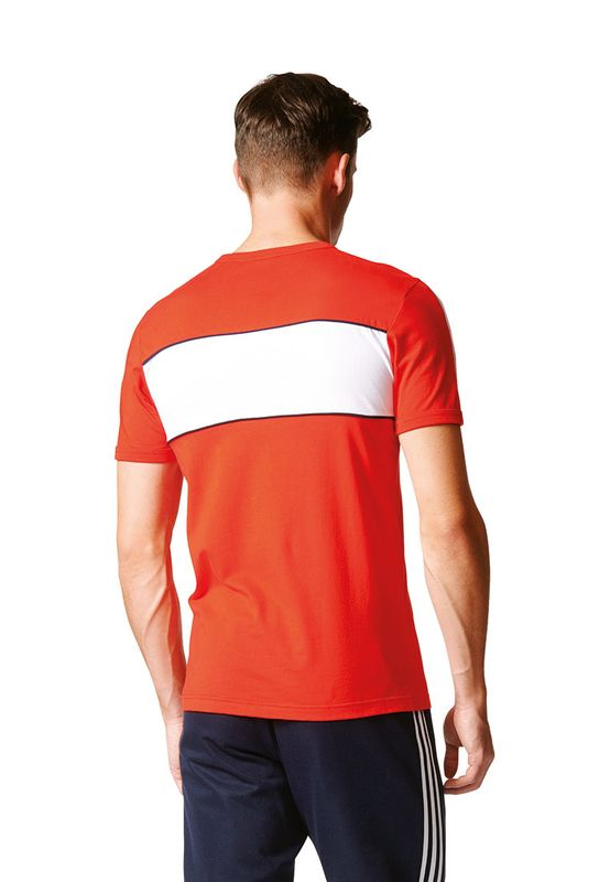 Adidas T-Shirt Men BLOCK TEE BK7783 Rot – Bild 3