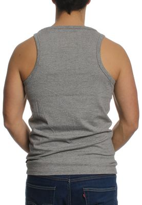 Superdry Tank Men VINTAGE LOGO EMBOSSED VEST Steel Grey Grit – Bild 1