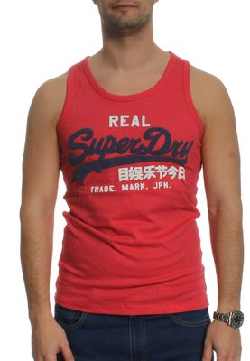 Superdry Tank Men VINTAGE LOGO DUO VEST Red Marl – Bild 0