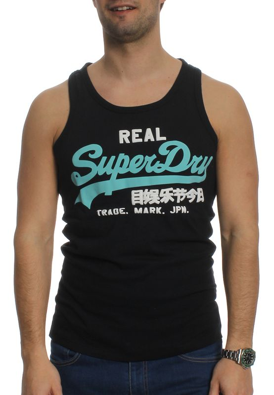 Superdry Tank Men VINTAGE LOGO DUO VEST Eclipse Navy – Bild 0