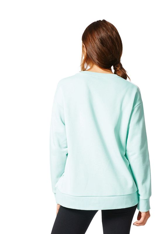 Adidas Pullover Women 3S A-LINE SWEAT BJ8204 Mint – Bild 3