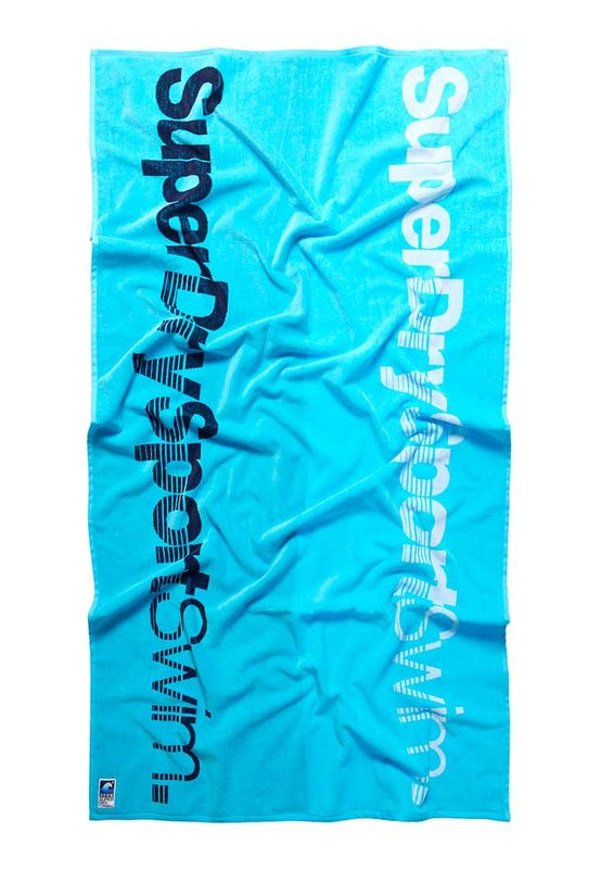 Superdry Badetuch SPORT SWIM BEACH TOWEL Swim Blue
