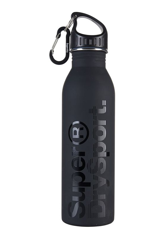 Superdry Trinkflasche STEEL SPORTS BOTTLE Black Black