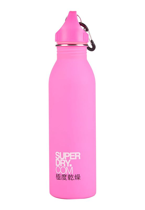 Superdry Trinkflasche STEEL SPORTS BOTTLE Pink White  – Bild 1