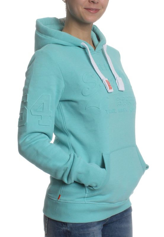 Superdry Sweater Women VINTAGE LOGO EMBOSSED Tropical Teal Grit – Bild 2