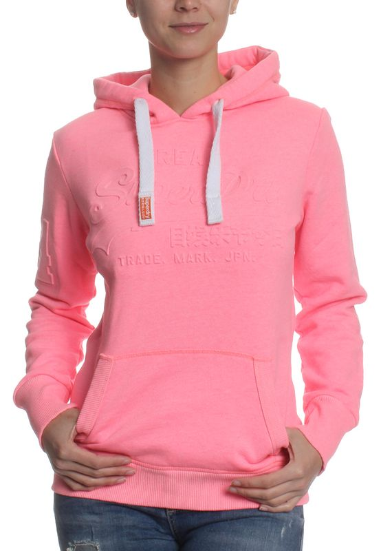 Superdry Sweater Women VINTAGE LOGO EMBOSSED Ultra Pink Grit – Bild 0