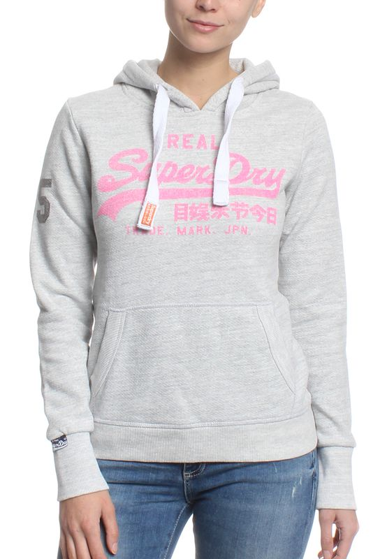 Superdry Sweater Women VINTAGE LOGO INJECTED Ice Marl Optic – Bild 0