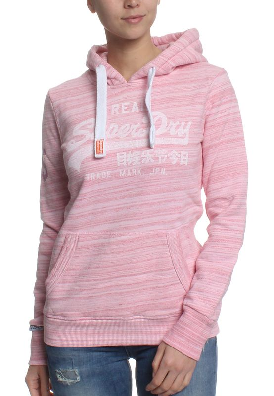 Superdry Sweater Women VINTAGE LOGO INJECTED Rasperry Neon Pink Optic – Bild 0
