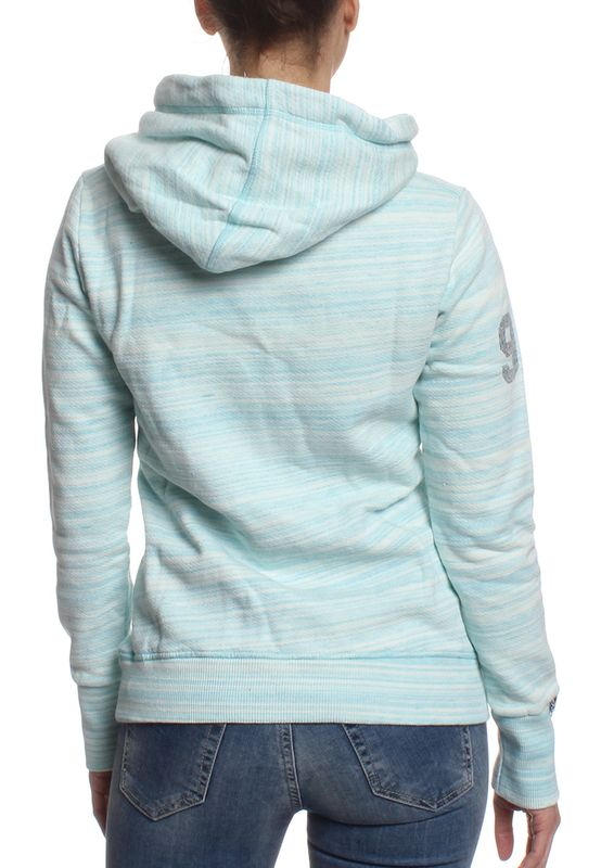 Superdry Sweater Women VINTAGE LOGO INJECTED Fluro Turquoise Optic – Bild 1