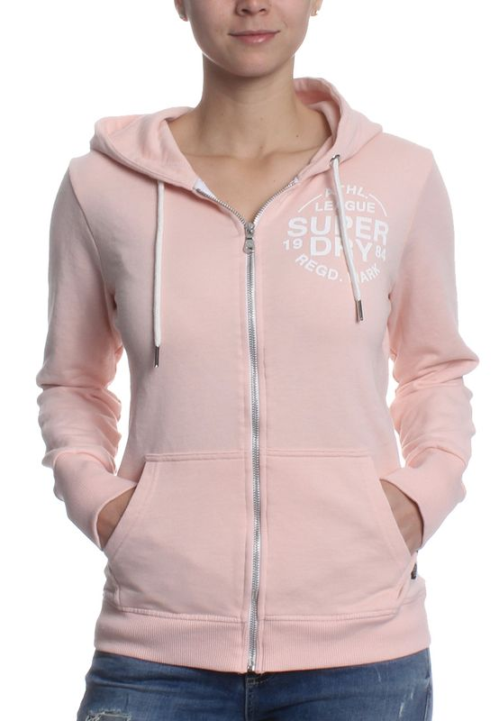 Superdry Zipper Women ATHLETIC LOOPBACK 90s Baby Pink Marl – Bild 0
