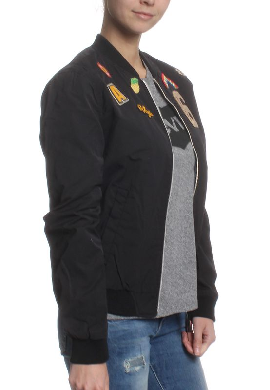 Khujo Übergangsjacke Women NAURU WITH BADGES Black – Bild 3