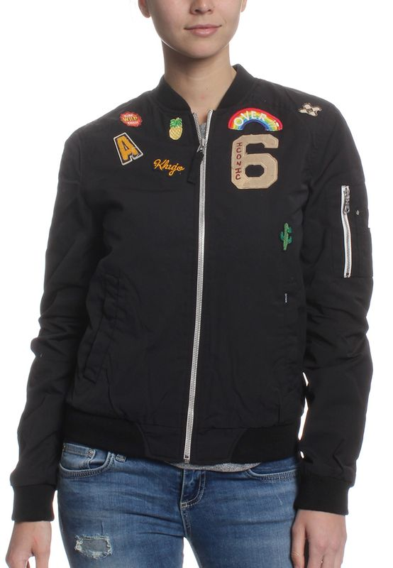 Khujo Übergangsjacke Women NAURU WITH BADGES Black – Bild 1