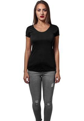 Urban Classics Ladies Basic Viscose Tee TB1510 Black – Bild 3