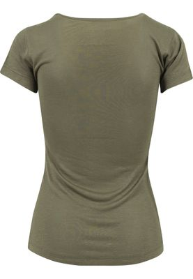 Urban Classics Ladies Basic Viscose Tee TB1510 Olive – Bild 2