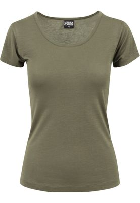 Urban Classics Ladies Basic Viscose Tee TB1510 Olive – Bild 0