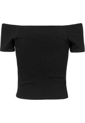 Urban Classics Ladies Off Shoulder Rib Tee TB1500 Black – Bild 1