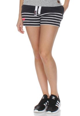 Superdry Shorts Women SUN + SEA BRETON LITE Navy White Stripe – Bild 0