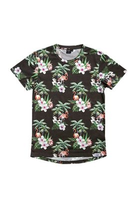 RXBRY T-Shirt Men FLAMINGO FULL PRINT S17220 Black