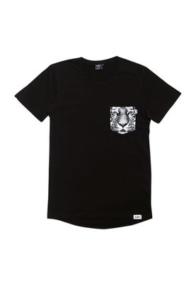 RXBRY T-Shirt Men TIGER POCKET S17212 Black