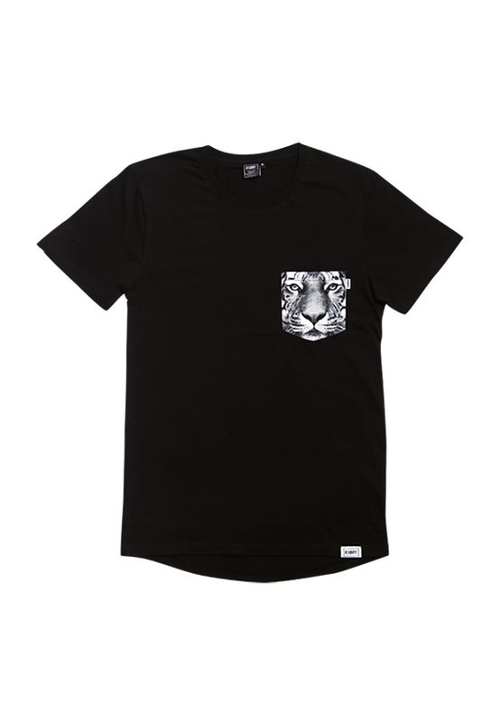 RXBRY T-Shirt Men TIGER POCKET S17212 Black Ansicht