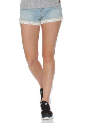 Superdry Jeansshorts Women LACE HOT SHORT Bleach Wash – Bild 0