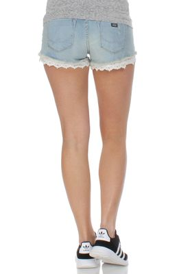 Superdry Jeansshorts Women LACE HOT SHORT Bleach Wash – Bild 1
