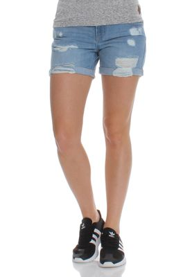 Superdry Jeansshorts Women STEPH BOYFRIEND SHORT Authentic Light Wash – Bild 0