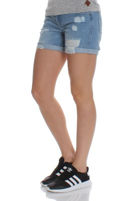 Superdry Jeansshorts Women STEPH BOYFRIEND SHORT Authentic Light Wash – Bild 2