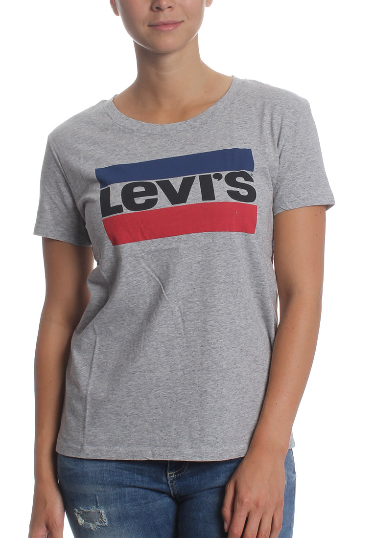 levis t shirt women the perfect tee 17369 0303 grau ebay. Black Bedroom Furniture Sets. Home Design Ideas