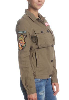 Superdry Jacke Women ROOKIE PATCH JACKET Urban Khaki – Bild 2