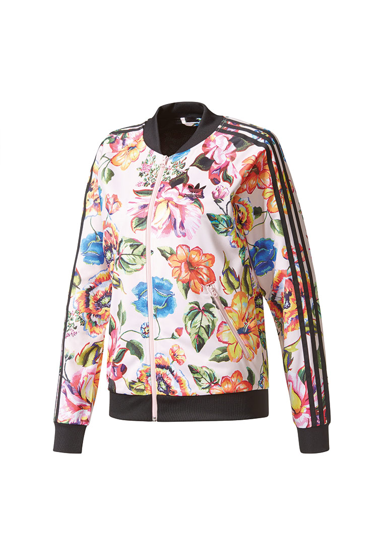 adidas sweatjacke women floralia tt br5114 mehrfarbig ebay. Black Bedroom Furniture Sets. Home Design Ideas