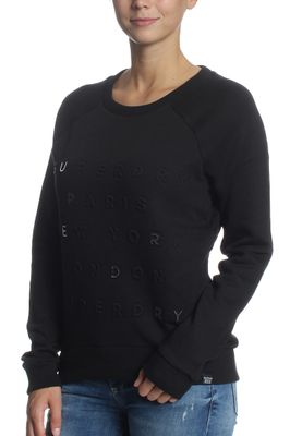 Superdry Sweatshirt Women APPLIQUE RAGLAN CREW Black Emboss – Bild 2