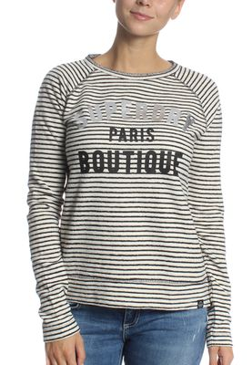 Superdry Longsleeve Women AMOUR STRIPE GRAPHIC TOP Mono Stripe – Bild 0