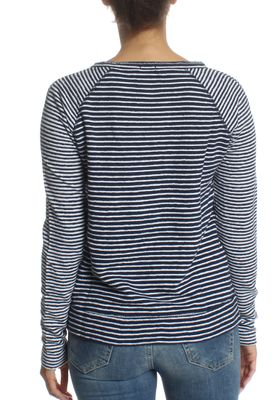Superdry Longsleeve Women AMOUR STRIPE GRAPHIC TOP Florence Navy Stripe – Bild 1