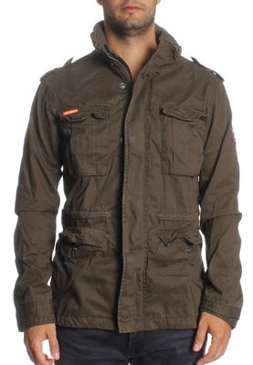Superdry Jacke Men CLASSIC ROOKIE MILITARY JACKET Forest Khaki – Bild 0