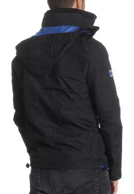 Superdry Übergangsjacke Men HOODED CLIFF EMBOSS HIKER Black Deep Royal – Bild 2