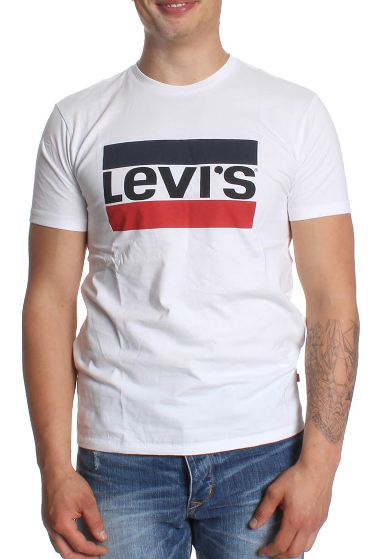 levis t shirt men sportswear logo 39636 0000 wei herren t. Black Bedroom Furniture Sets. Home Design Ideas