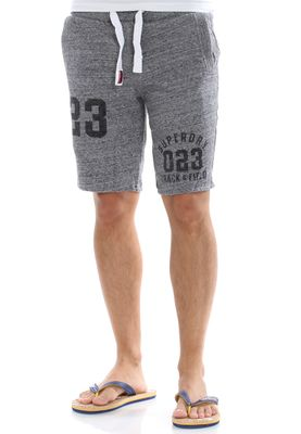 Superdry Shorts Men TRACKSTER LITE SWEATSHORT Flint Grey Grit – Bild 0