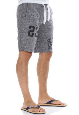 Superdry Shorts Men TRACKSTER LITE SWEATSHORT Flint Grey Grit – Bild 1