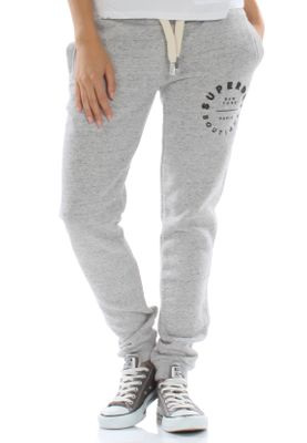 Superdry Jogginghose Women APPLIQUE SLIM JOGGER Grey Marl Nep – Bild 0