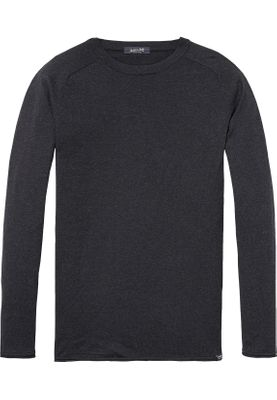 Scotch & Soda Pullover Men COTTON CASHMERE 139785 Dunkelgrau 0608