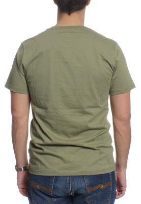 Converse T-Shirt Men FLYKNIT WORDMARK 10003427 Khaki 333 – Bild 1