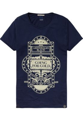 Scotch & Soda T-Shirt Men 137757 Blau 57