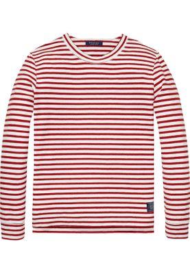 Scotch & Soda Crew Neck Pullover gestreift 139658 Rot Weiß 0218