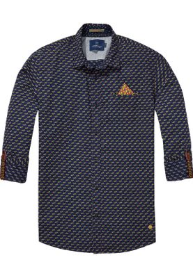 Scotch & Soda Hemd Regular Fit Men 139551 Blau mehrfarbig 0220