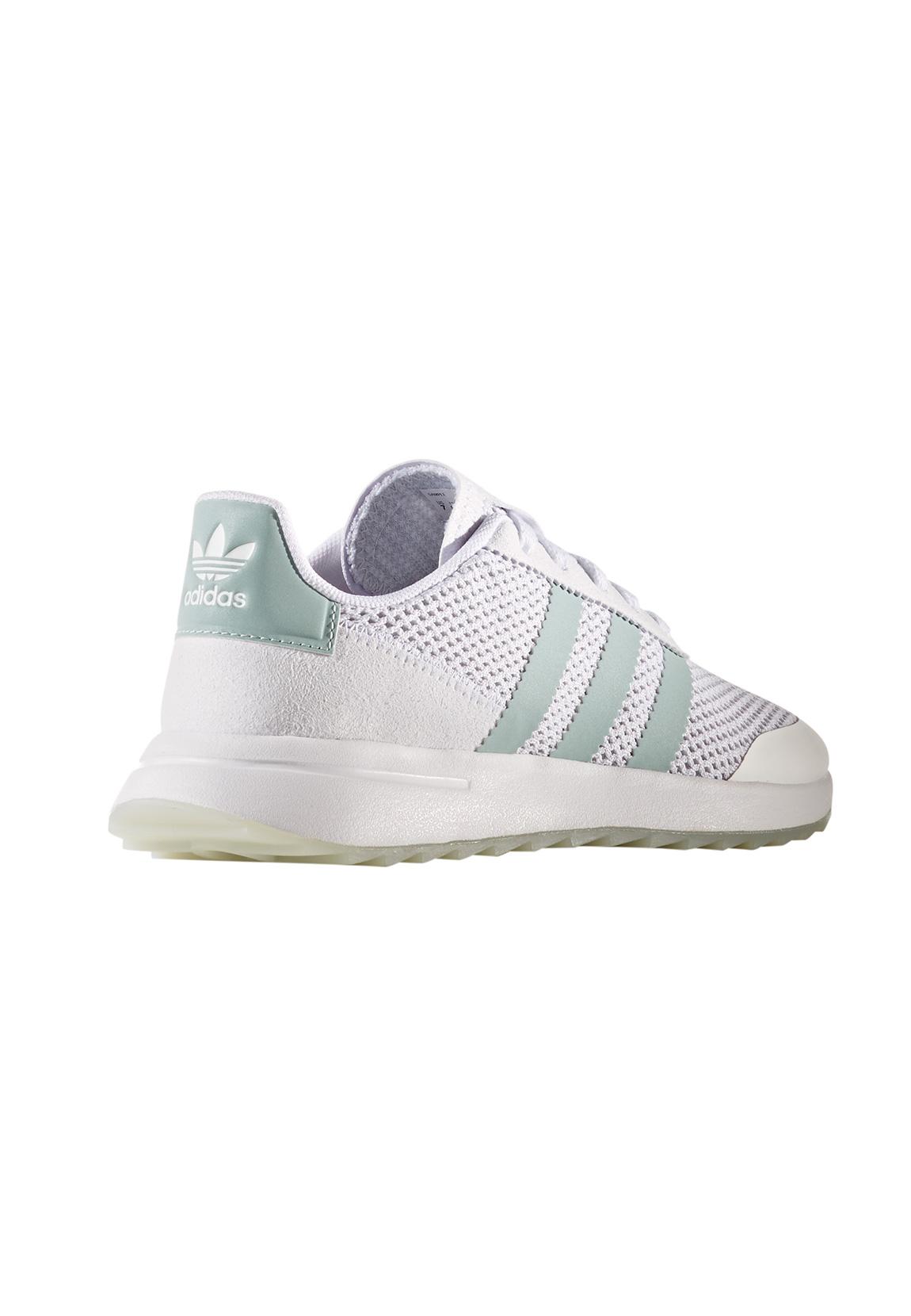 new concept b7f38 14d56 Adidas Damen Sneaker FLB W BY9685 Weiß Türkis