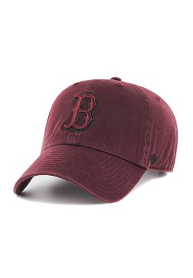 47 Brand RGW02GWS Clean Up Tonal Strapback BOSTON RED SOX Dunkelrot
