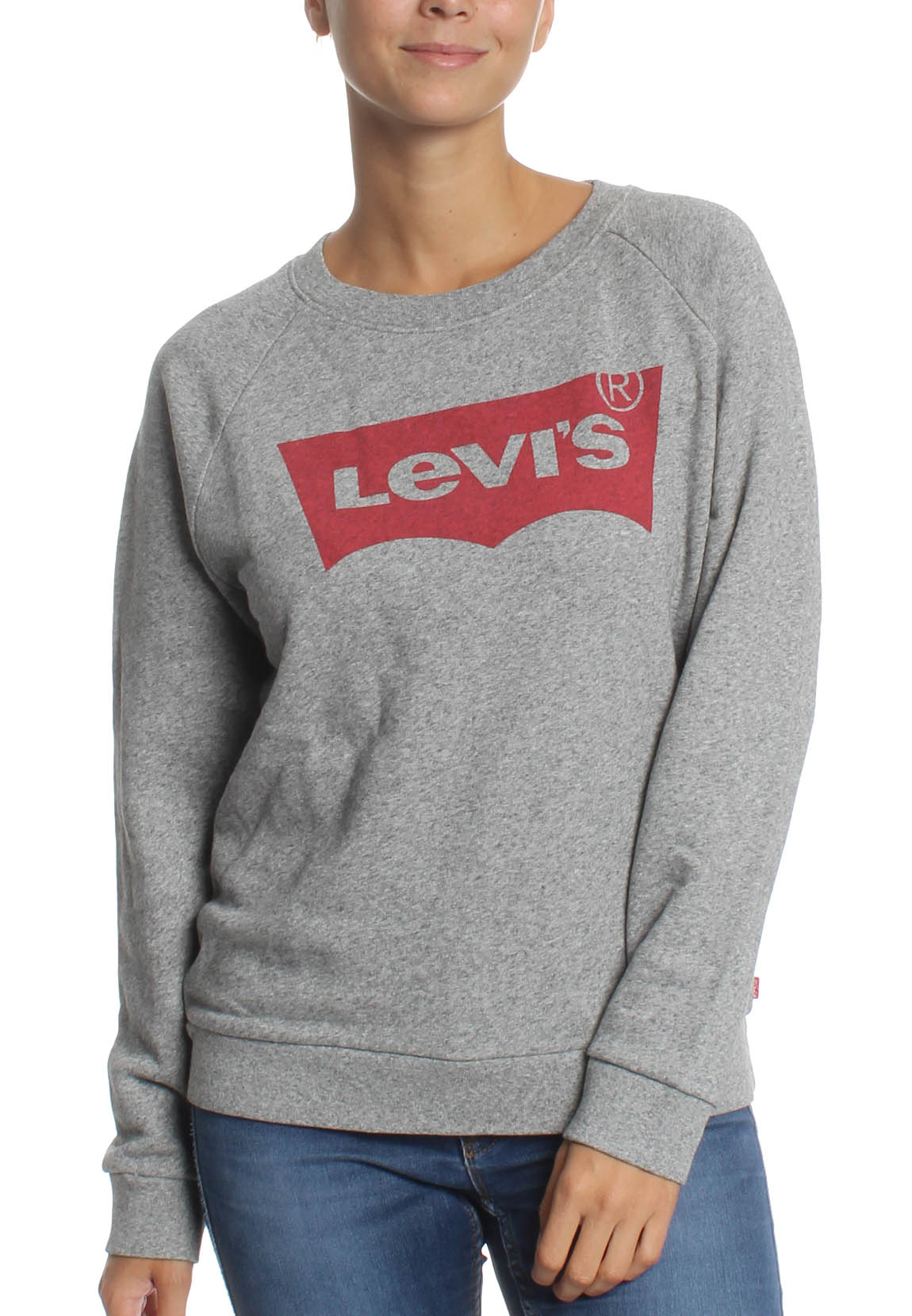 Levis Sweatshirt Women RELAXED GRAPHIC CREW 29717-0000 Grau