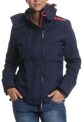 Superdry Jacke Damen POP ZIP HOOD ARCTIC WINDCHEATER Nautical Navy Lurex Coral Blush – Bild 0